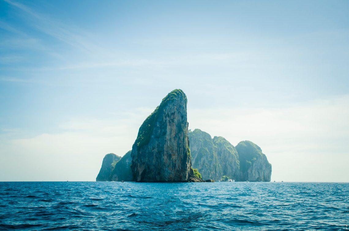 Mountain in ocean