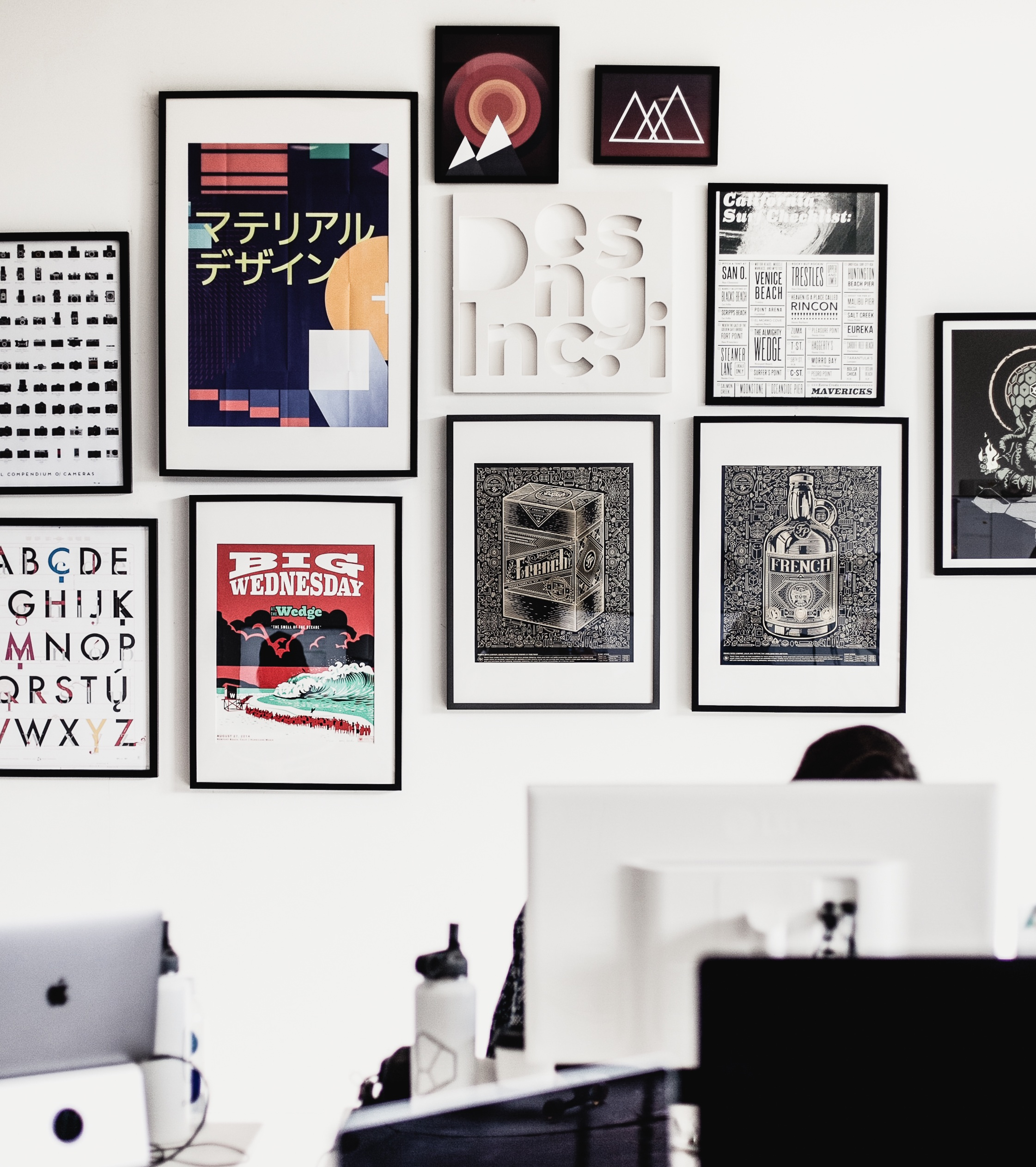 Workspace with posters